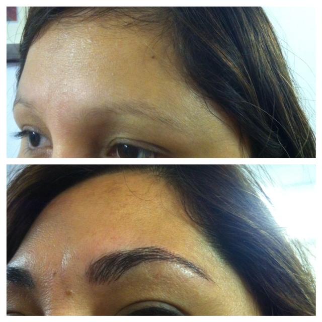9. sourcils avant et après M.P.