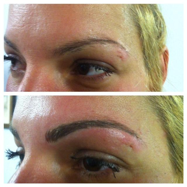 10. sourcils avant et après M.P.